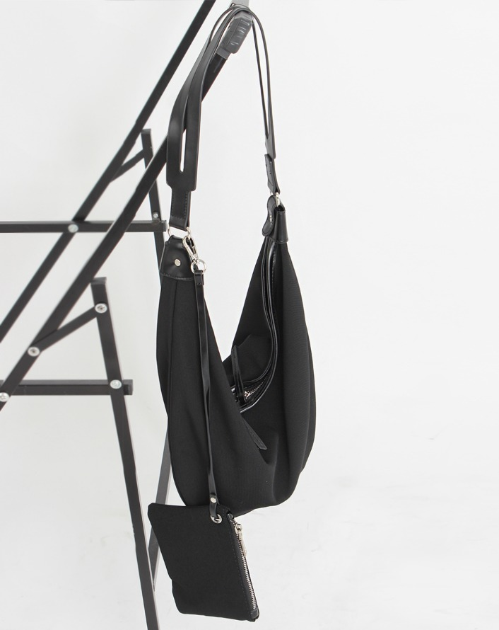 [HQ] leather strap half layer bag