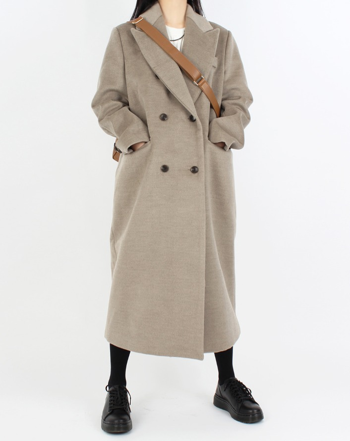 [HQ] mol wool collar belted long coat