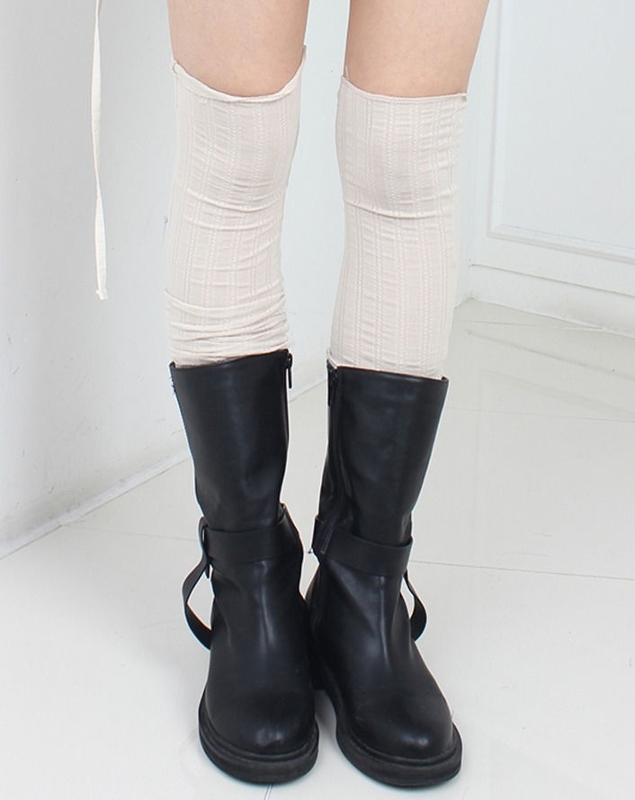 mesh knitting knee socks (3 colors)