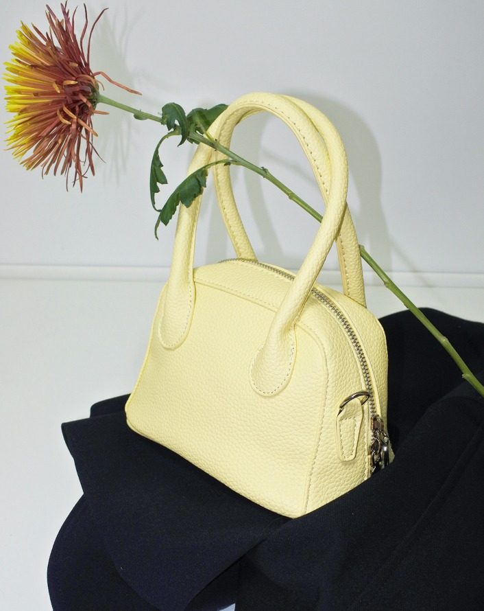 top handle mini bag (lemon)